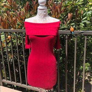NWOT A Shoulder show Dress